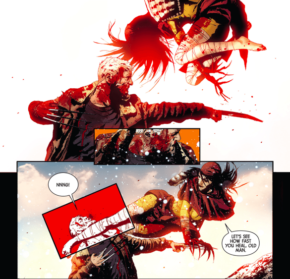 A Panel From Old Man Logan #7